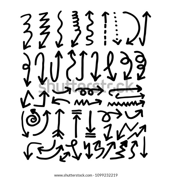 Hand Drawn Arrow Icon Stock Vector (Royalty Free) 1099232219