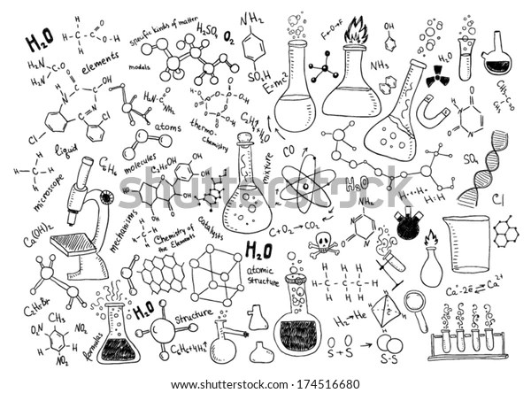 Hand Drawn Chemistry Stock Vector (Royalty Free) 174516680