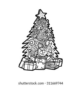 Christmas Decorations Drawing Images Stock Photos Vectors Shutterstock