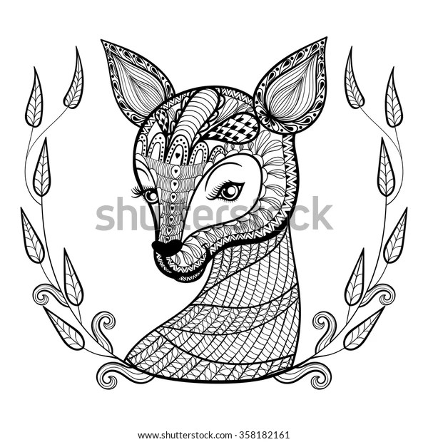 Hand Drawn Ethnic Ornamental Patterned Cute Stock Vector