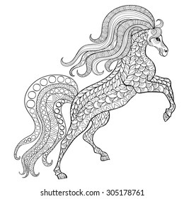 Horse Head Coloring Page Images, Stock Photos & Vectors