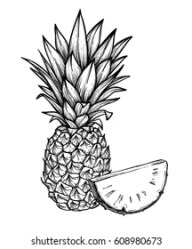 Outline Pineapple Images Stock Photos & Vectors Shutterstock