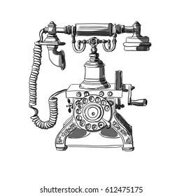 Antique Telephone Images, Stock Photos & Vectors