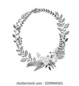 Floral Vintage Wreath Images, Stock Photos & Vectors