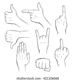 gestures of hands meaning