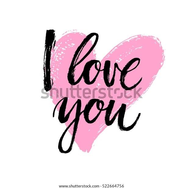 Download Hand Written Love You Phrase Vector Stock Vector (Royalty ...
