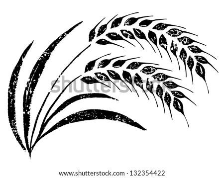 Handdrawn Rice Stock Vector (Royalty Free) 132354422