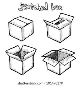 Cartoon Cardboard Box Images, Stock Photos & Vectors