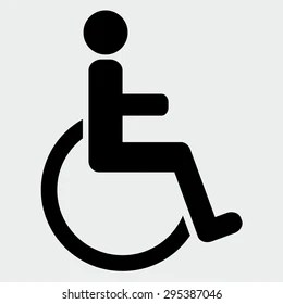 handicapped symbol images stock