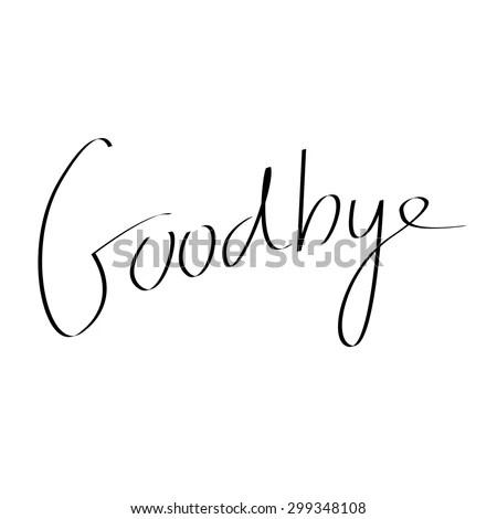 Handwritten Goodbye Text Message Stock Vector (Royalty