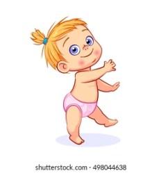 Baby Walking Cartoon Images Stock Photos & Vectors Shutterstock