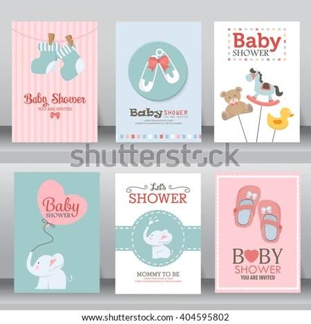 Happy Birthday Baby Shower Newborn Celebration Stock Vector (Royalty Free) 404595802 - Shutterstock