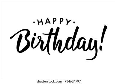 happy birthday calligraphy images