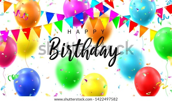 happy birthday colorful banner