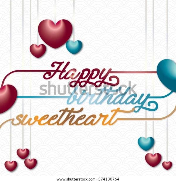 happy birthday sweetheart stock