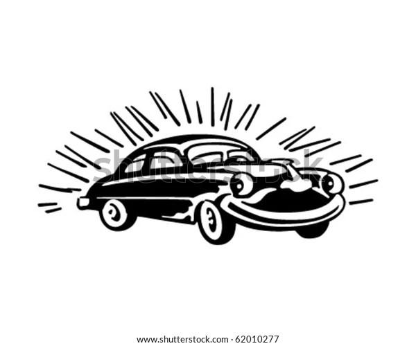Happy Buick Retro Clipart Stock Vector (Royalty Free) 62010277