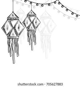 Diwali Sketch Images Stock Photos Vectors Shutterstock