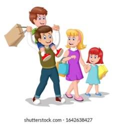 Family Shopping Cartoon Images Stock Photos & Vectors Shutterstock