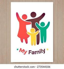 family logo images stock