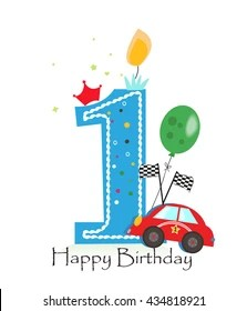 first birthday images stock