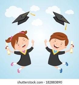 kid graduation images stock