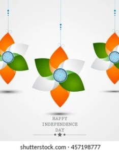 Happy independence day india vector illustration flyer design for th august also images stock photos  vectors shutterstock rh