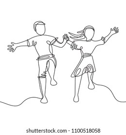 girl outline drawing stock