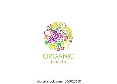 fruit logo images stock