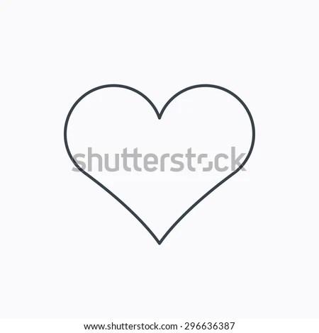 Heart Icon Love Sign Life Symbol Stock Vector (Royalty