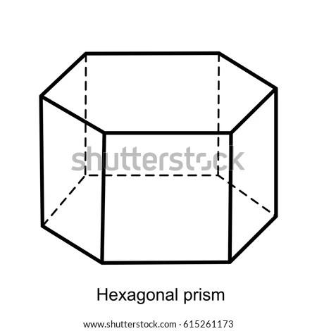 Hexagonal Prism Vector Geometric Shapes Preschool Vector