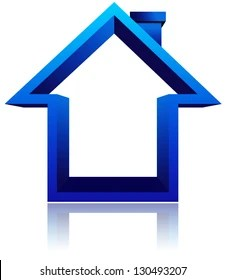 Blue Home Icon : House, Stock, Images, Shutterstock