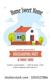 https www shutterstock com image vector housewarming party invitation card design 1055527886
