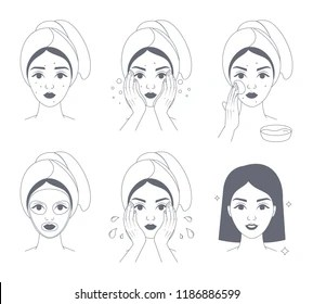 Face Mask Female Stock Illustrations, Images & Vectors