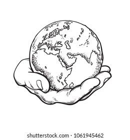 Hands Holding Earth Images, Stock Photos & Vectors
