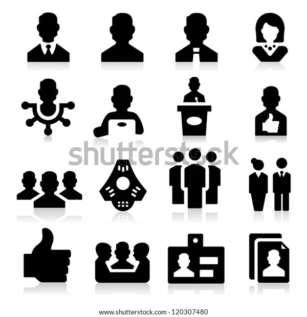 Human Resources Management Icons Stock Vector (Royalty