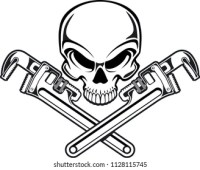Skull Cross Wrench Images, Stock Photos & Vectors ...