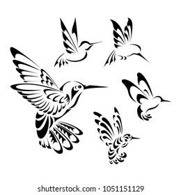 Small Hummingbird Tattoo Outline