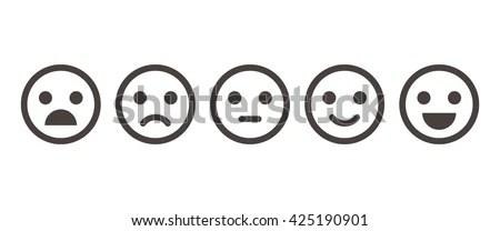 Iconic Illustration Satisfaction Level Range Assess Stock