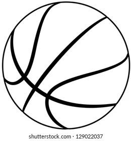 Basketball Ball Drawing Images, Stock Photos & Vectors