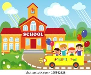 Girl Go School Clip Art Images Stock Photos & Vectors Shutterstock