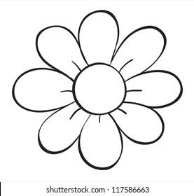 Cartoon Flower Outline Images Stock Photos Vectors Shutterstock