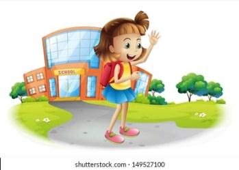 Girl Going School Cartoon Images Stock Photos & Vectors Shutterstock