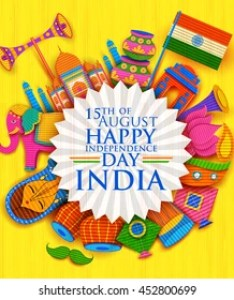 Illustration of happy independence day banner in indian kitsch paper style also india images stock photos  vectors shutterstock rh