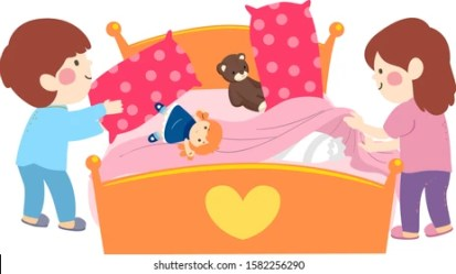 Family On Bed Clipart Images Stock Photos & Vectors Shutterstock