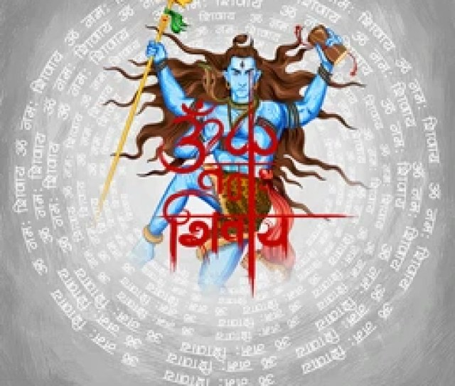 Illustration Of Lord Shiva Indian God Of Hindu With Message Om Namah Shivaya I