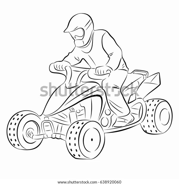 How To Draw A Four Wheeler Step By Step ~ Drawing Tutorial