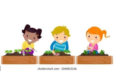 Kids Garden Cartoon Images Stock Photos & Vectors Shutterstock