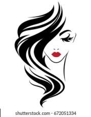 hair logo stock