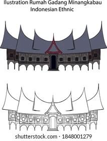 Traditional house of minangkabau rumah gadang