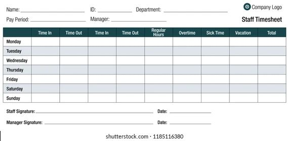 timesheet or time sheet